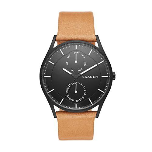 ビッグ割引 【当店1年保証】スカーゲンSkagen SKW6265 Brown SKW6265 Mens Holst Brown Leather Leather Strap Watch, 森農園産直店:84546616 --- kzdic.de