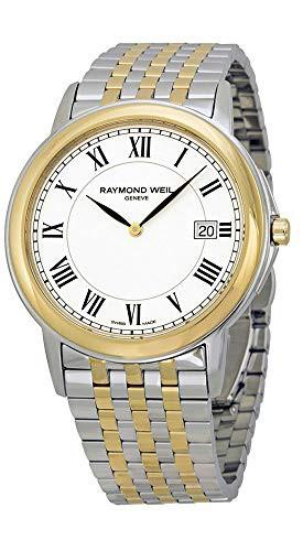 【超お買い得!】 【当店1年保証】レイモンドウィルRaymond Weil Tradition White Dial Two-tone Mens Watch 5466-STP, トウミシ 0cc41bdd
