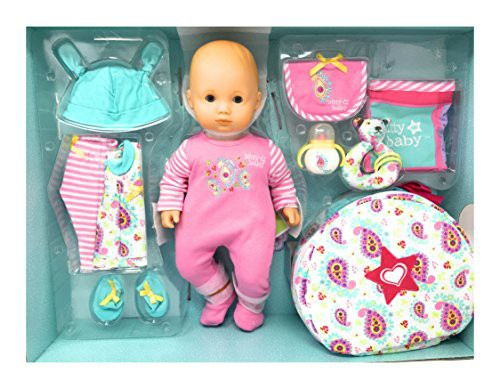 春新作の Girl Baby 15 Ey アメリカンガールドールAmerican Skin/Blue Light Deluxe inch Doll Piece Bitty Set, 12-おもちゃ