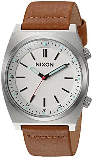 【お取り寄せ】 【当店1年保証 Watch】ニクソンNixon Men's Stainless Brigade Stainless Steel Japanese-Quartz Japanese-Quartz Watch with Leather-Syn, 初山別村:b285675a --- kzdic.de