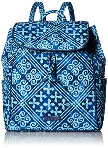 大洲市 ヴェラブラッドリーVera Bradley Women's Signature Cotton Drawstring, Cuban Tiles, カンナミチョウ f7010621