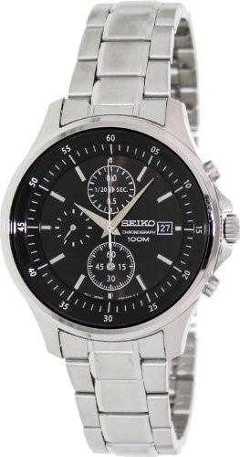 有名な高級ブランド 【当店1年保証】セイコーSeiko Mens Dial Black Dial Chronograph Stainless Steel Black Mens Watch SNDE19, 礼文町:f58a2a81 --- kzdic.de