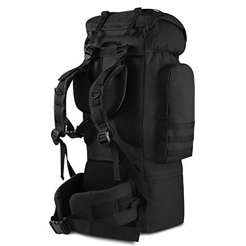 df66bb1fb3bf ミリタリーバックパックGonex Large Capacity 100L Hiking Camping Backpack Internal Frame  900D Tactica