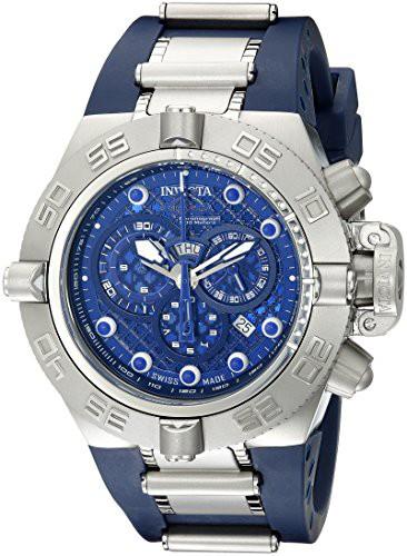 高速配送 Men's B IV Subaqua 1389 Noma Blue Chronograph 【当店1年保証】インヴィクタInvicta Dark Dark Dial-腕時計メンズ