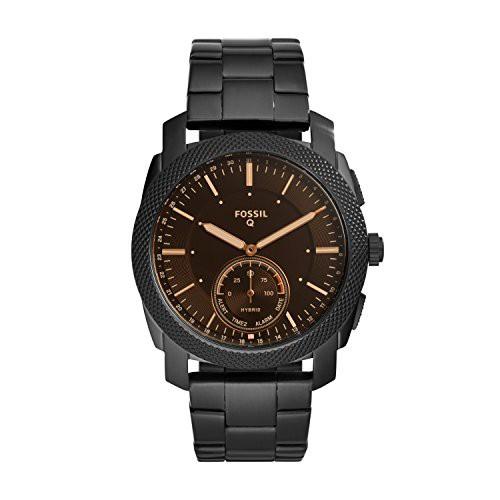 最新入荷 【当店1年保証】フォッシルFossil Q Men's Q Machine Hybrid Watch with Stainless-Steel Strap, Black, Joliedame(ジョリダーム) 8ad938cf