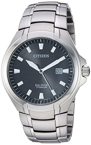 独創的 【当店1年保証】シチズンCitizen Men's Eco-Drive Quartz Titanium Strap, Silver, 25.5 Casual Watch (, (訳ありセール 格安) 693f393c