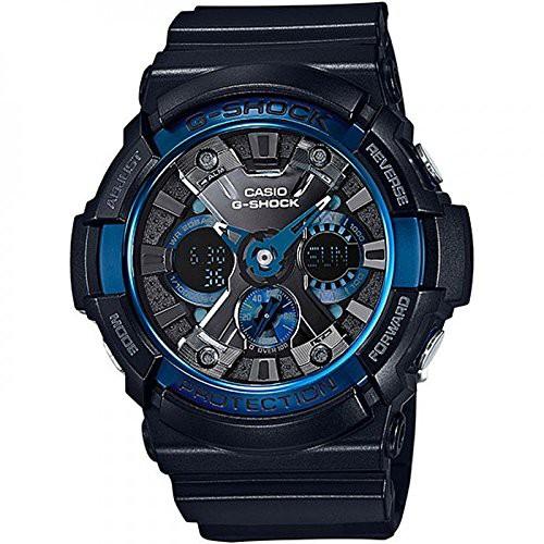 第一ネット 【当店1年保証】カシオCasio GA200CB-1A Men's Shock XL Analog Chronograph Digital GA200CB-1A Chronograph Alarm Black G Shock Watc, キサワソン:0e01b57a --- 1gc.de