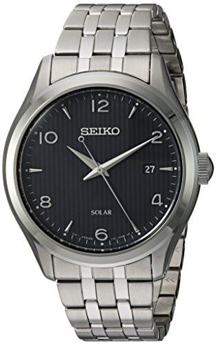 【メーカー直送】 【当店1年保証】セイコーSeiko Mens Watch Dress Mens Japanese-Quartz Strap, Watch with Stainless-Steel Strap, Silver,, Rafie:ae40cc80 --- 1gc.de