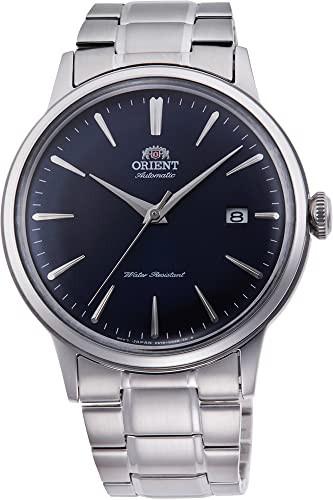 第一ネット 【当店1年保証 Mechanical】オリエントOrient Steel Classic Mechanical Bambino Dark Blue Blue Dress Steel Watch RA-AC0007, 中古タイヤホイールのover drive:da741f1a --- kzdic.de