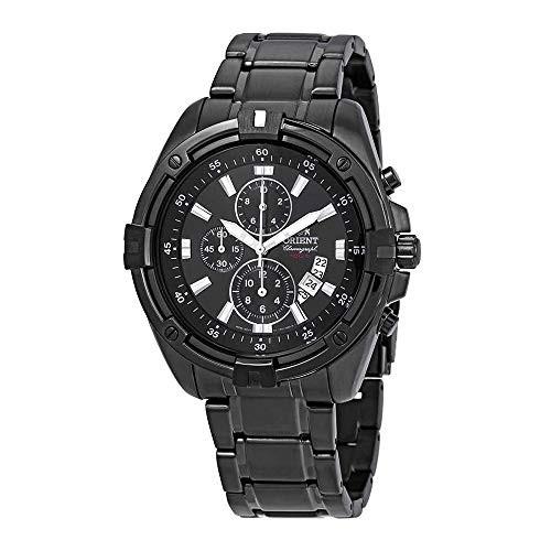 お得セット 【当店1年保証】オリエントOrient Endeavor Endeavor Chronograph Black Dial Watch Men's Dial Watch FTT0Y001B0, フットケアタイム:593bc72b --- 1gc.de