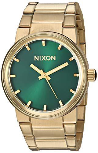 最も優遇の 【当店1年保証】ニクソンNixon Mens Cannon Japanese quartz Stainless Steel watches Gold / Green Sun, 安王厨房 4ec28f0e
