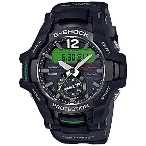 【期間限定お試し価格】 【当店1年保証 53.8mm】カシオCasio GRB100-1A3 Gravitymaster Men's Watch Black Black Men's 53.8mm Resin, ハンザンチョウ:5eb865db --- schongauer-volksfest.de