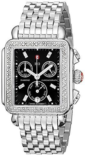 お手頃価格 【当店1年保証 Stainless】ミッシェルMICHELE Women's MWW06P000171 Deco Deco Stainless Steel Watch with MWW06P000171 Diamond Ac, 利根郡:973325f4 --- kzdic.de