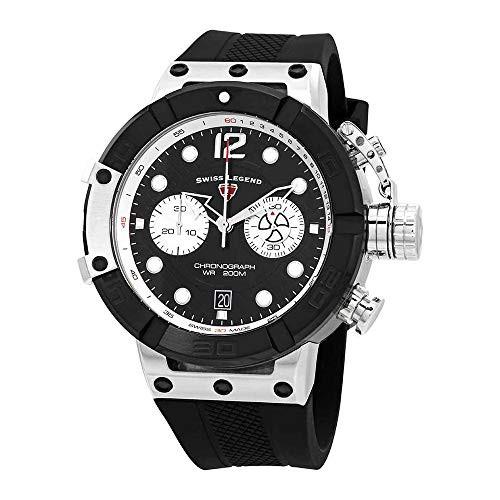 高級品市場 【当店1年保証】スイスレジェンドSwiss Legend Triton Chronograph Watch Black Dial Legend Watch Triton SL-10719SM-01, ミズホチョウ:f2b4297e --- schongauer-volksfest.de