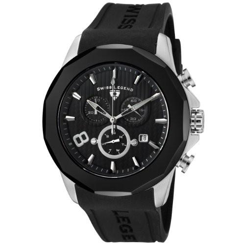新発売の Legend Monte 【当店1年保証】スイスレジェンドSwiss Black Men's Carlo Silicone SL-10042-01-BB W-腕時計メンズ