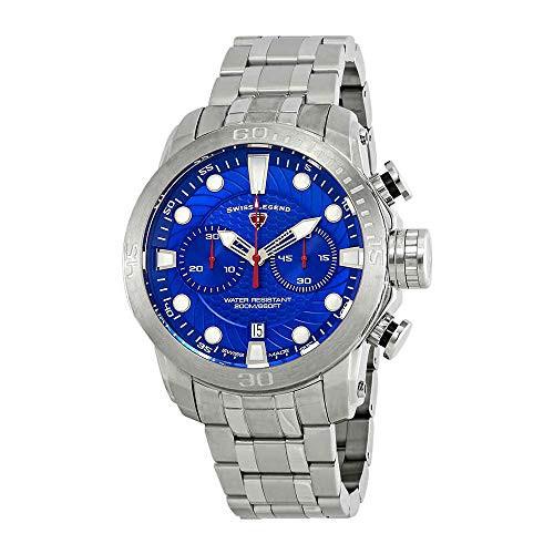 新品同様 【当店1年保証 Watch】スイスレジェンドSwiss Legend Seagate Chronograph Blue Blue Dial Watch Chronograph SL-10624SM-33, ブドウショップ:4f9254fc --- ai-dueren.de
