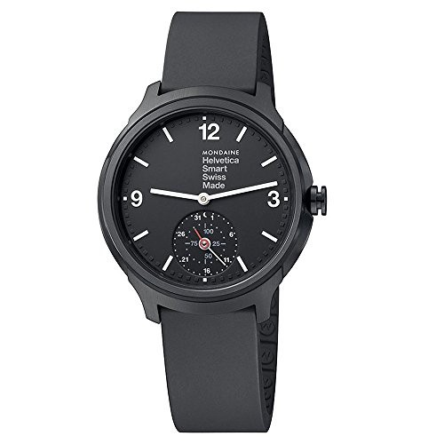 低価格の 【当店1年保証】モンディーンMondaine Helvetica Smartwatch for Men (MH1B2S20RB) Swiss Made, Black, HoneyButterfly 1792bd59