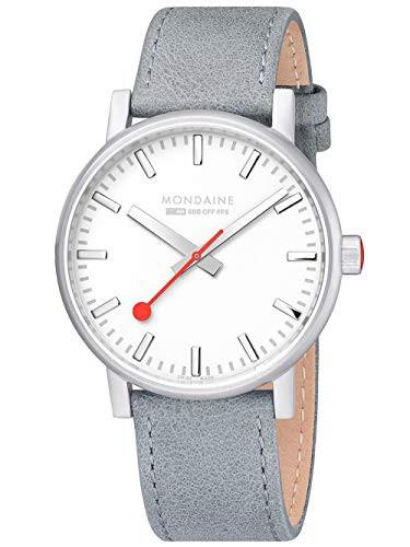 ファッション 【当店1年保証】モンディーンMondaine SBB Evo2 Grey Leather Strap White Dial 40mm MSE.40110.LH, 不動のうめ a5e8d82b