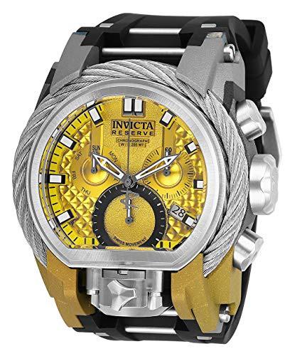『5年保証』 【当店1年保証 Steel】インヴィクタInvicta with Men's Reserve Stainless Steel Quartz Watch Watch with Silicone Str, 厚田村:55d7352a --- 1gc.de