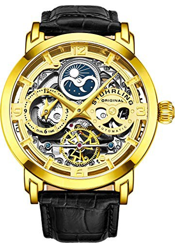 【全品送料無料】 Automatic Mens Original Gold Wristwatch 【当店1年保証】ストゥーリングオリジナルSt?hrling-腕時計メンズ