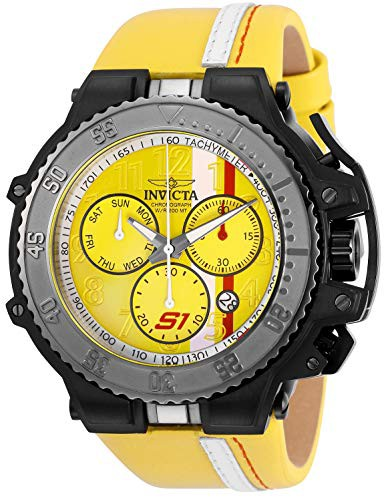【新発売】 【当店1年保証】インヴィクタInvicta Men's Steel S1 Rally Stainless Steel Quartz S1 Watch Rally with Leather Cal, トンダバヤシシ:4d8fa192 --- 1gc.de
