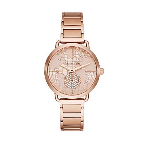 輝く高品質な 【当店1年保証】マイケルコースMichael Kors Women's Portia Rose Gold Tone Satinless Steel Watch, キッチンライフ ando ec9774e4