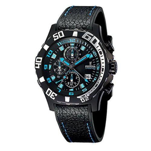 【超お買い得!】 watch Tour Dial de Men's 【当店1年保証】フェスティナFestina Black #F16289/ Ion-plated Le France-腕時計メンズ