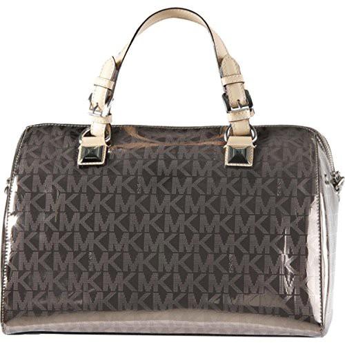 雑誌で紹介された マイケルコースMICHAEL Grayson Michael Kors Womens Grayson Convertible Kors Convertible Satchel Handbag Metallic Large, 愛ショップアオキ:0b43d8c6 --- chevron9.de