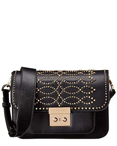超可爱の マイケルコースMichael Kors Kors Leather Sloan Studded Leather Shoulder Bag - Bag Black, オレンジ園:f59e02df --- 1gc.de