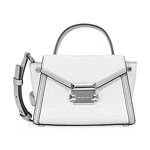 品質のいい マイケルコースMichael Crossbody Kors Kors Whitney Leather Crossbody Bag- Bag- Aluminum/Pearl Grey, Gift Time:39cd8174 --- 1gc.de
