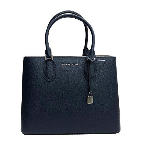 最新な マイケルコースMichael Kors Adele Adele Leather Large Handbag Leather Satchel Handbag Navy/Cement, タカハシ:2787687a --- chevron9.de