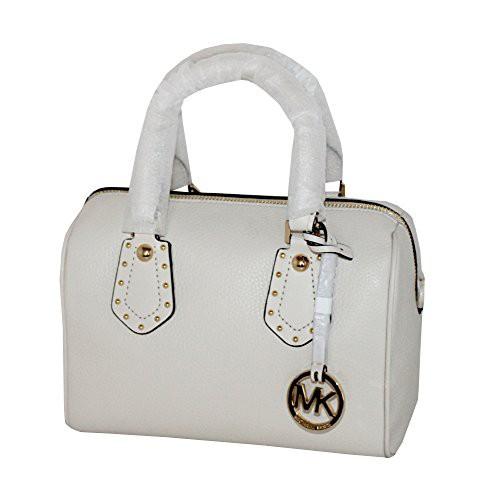 【送料無料/新品】 マイケルコースMICHAEL Michael Kors Women's ARIA Studded Small Leather Satchel Studded ARIA Satchel Handbag (ECRU), サンタズショップ:385b4d77 --- dorote.de