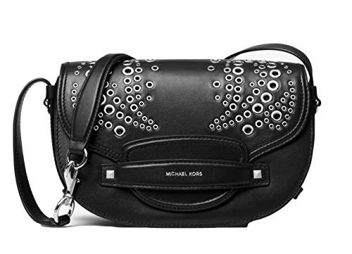 玄関先迄納品 マイケルコースMICHAEL Michael Kors Cary Bage Medium Grommeted Leather Saddle - Bage Medium - Black $398, atelier brugge ONLINE:4367ff45 --- chevron9.de