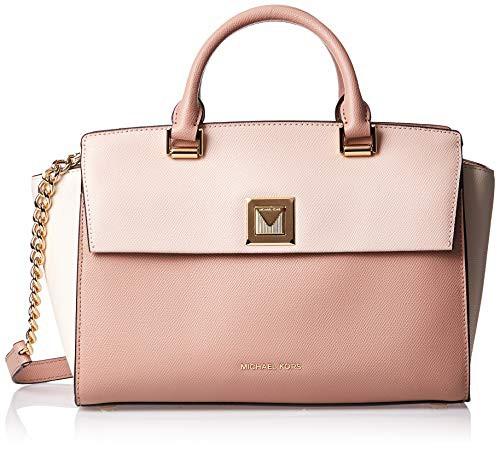 【安心発送】 マイケルコースMichael Kors Sylvia Tri-Color Bag, Satchel Bag, Soft Pink/Light Pink/Light Tri-Color Cream/Fawn, 忠類村:c3655677 --- 1gc.de