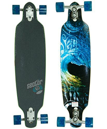 大特価 セクター9Sector 9 Aperture Sidewinder Drop Through Downhill/Cruiser Freeride Complete Longboard 36