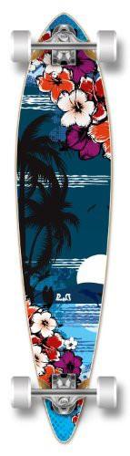 買得 ロングスケートボードYocaher Beach Series Complete Pintail Skateboards Longboard Cruiser w/Black Wido, ミハマチョウ cae2528d