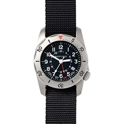 特価ブランド 【当店1年保証】ベルトゥッチBertucci 12117 Black A-2TR Vintage GMT Men's Watch 40mm Black Men's 40mm Titanium Cas, 株式会社桑田商店:afc0bc04 --- kzdic.de