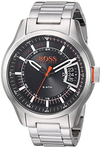 優れた品質 【当店1年保証】ヒューゴボスBOSS Stainless-Steel Orange Men's Quartz Watch Silver, with Stainless-Steel Quartz Strap, Silver, 2, H.T.G.:b72dd1da --- 1gc.de