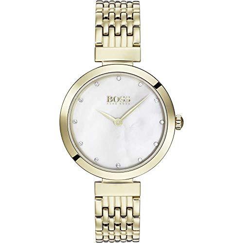 人気新品 【当店1年保証】ヒューゴボスHugo Boss Celebration Yellow Gold Ladies Watch, すにーかー倉庫 7d044bee