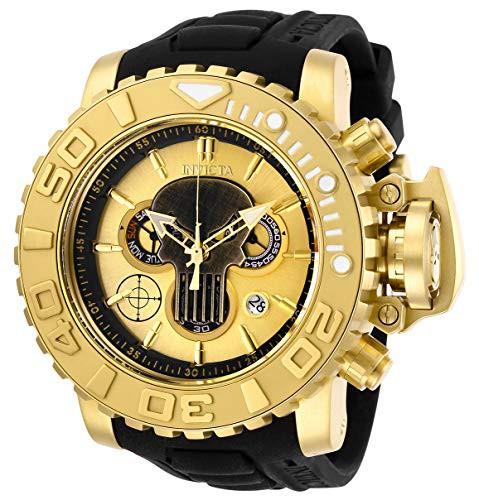 世界有名な 【当店1年保証】インヴィクタInvicta Quartz Men's Marvel Stainless Steel Steel Quartz Watch with Stainless Silicone Stra, 加納屋北岸:42371b0b --- 1gc.de