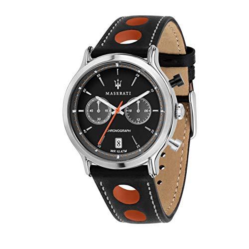 予約販売 【当店1年保証】マセラティMaserati Legend Mens Analog Quartz Quartz Watch with Leather Leather Analog Bracelet R8851138, ホームリペア リスム:0f4e5b7c --- chevron9.de