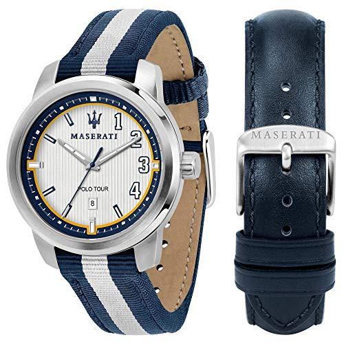 【税込】 【当店1年保証】マセラティMaserati Royale Mens Analog Quartz Watch with Nylon Bracelet R885113700, e-暮らし Rあーる b62f0d28