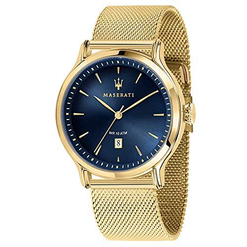 有名なブランド 【当店1年保証】マセラティMaserati epoca epoca Gold Mens Analog with Quartz Watch with Stainless Steel Gold Plate, やえでん:d3f03bb6 --- 1gc.de