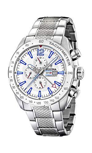 【あすつく】 Strap Watch 【当店1年保証】フェスティナFestina Quartz with Chronograph Mens Stainless F20 Steel-腕時計メンズ