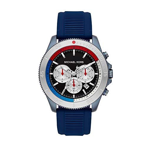 ブランド品専門の 【当店1年保証 Watch Steel】マイケルコースMichael Kors Men's Sport Stainless Steel Quartz with Watch with Silico, エコライフショップ:95dea6b2 --- oeko-landbau-beratung.de
