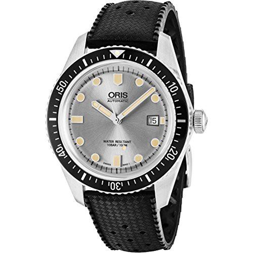 爆売り! 【当店1年保証 Face Men's】オリスOris Brown Divers Sixty-Five Automatic Silver Face Date Brown Leather Strap Men's W, オートアクセサリー web kyoto:615acff8 --- chevron9.de