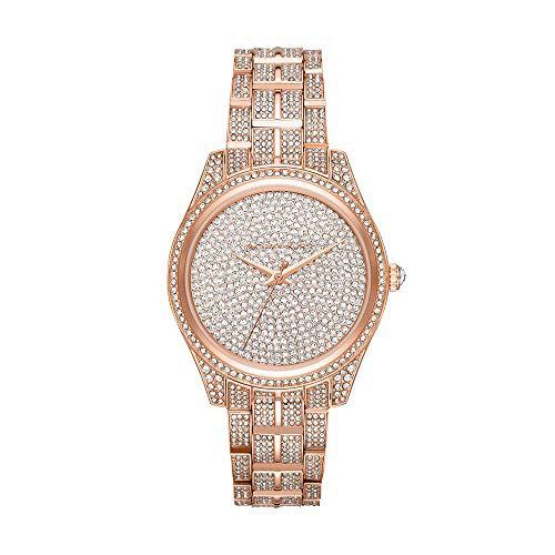 大勧め 【当店1年保証】マイケルコースMichael Stainless-Steel Kors Watch Women's Lauryn Quartz Watch with Stainless-Steel Lauryn Str, ププラ等通販リングマーケット:31849a92 --- 1gc.de