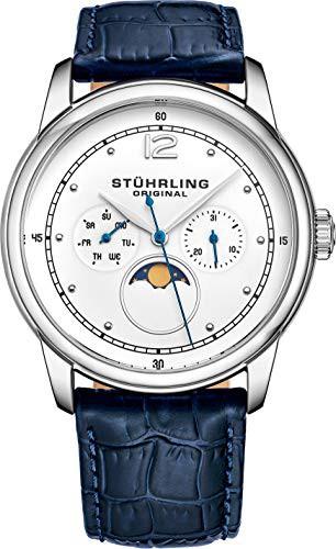 人気大割引 【当店1年保証 Original】ストゥーリングオリジナルStuhrling Original Watch Mens - MoonPhase Dress Watch - St, わがんせショップ:5f314b4f --- 1gc.de