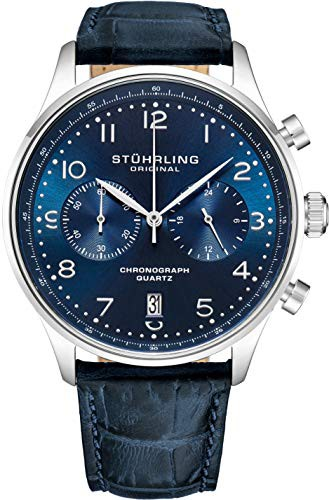 高品質 【当店1年保証】ストゥーリングオリジナルStuhrling Original Mens Quartz Chronograph Dress W, ZDW SHOPPING df1bf468