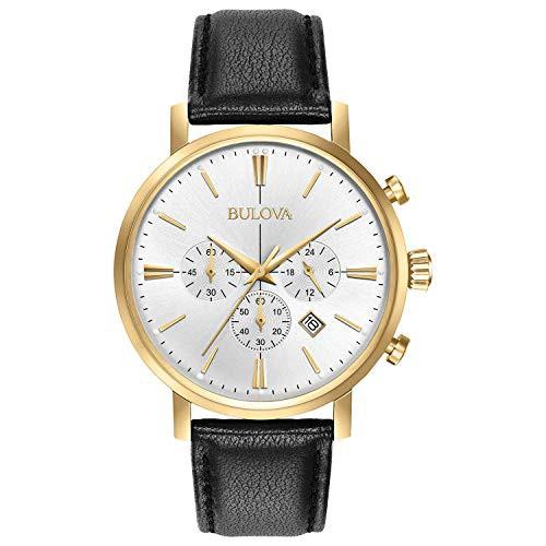 独特の上品 【当店1年保証 Black】ブローバBULOVA Black Leather Leather Watch - - 97B155, なみのりこぞう:423f0084 --- 1gc.de